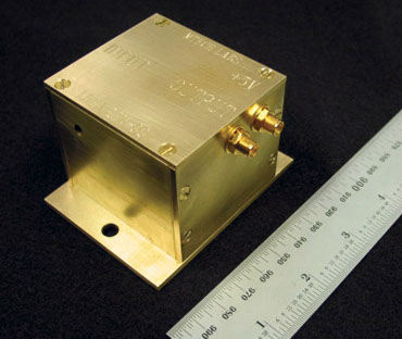 CryoCircuits LNPA Series Low-Noise MRI RF PreAmp - Scale Comparison Photo